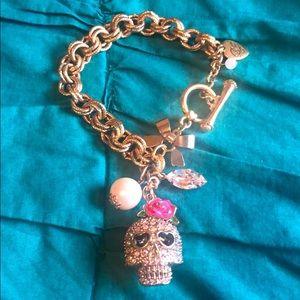 Betsey Johnson Skull Charm Bracelet